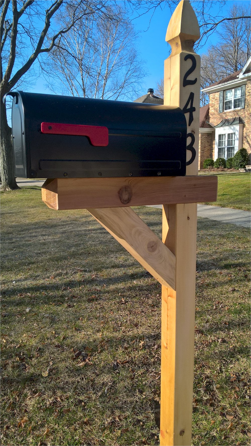 wood mailbox posts. French Gothic Cedar Mailbox And Post Combination Wood Posts T