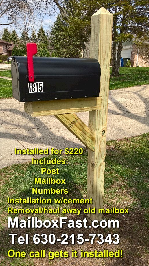 standard mailbox and post