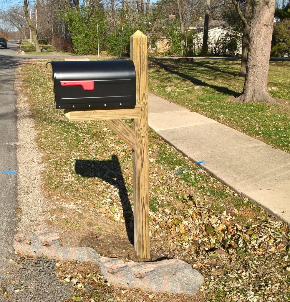 Standard Mailbox Post- Downers Grove