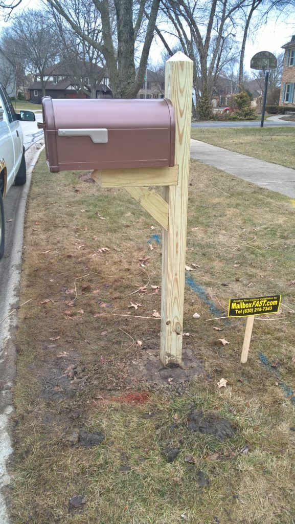 Standard Mailbox Post with Customer Supplied Copper Mailbox – Naperville
