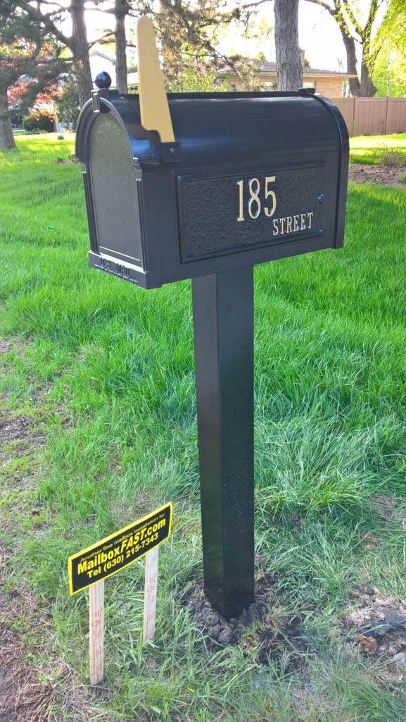 Whitehall Products Premium Mailbox and Post Package in Bloomingdale