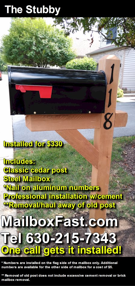The Stubby Mailbox Fast Mailbox Installer In Naperville